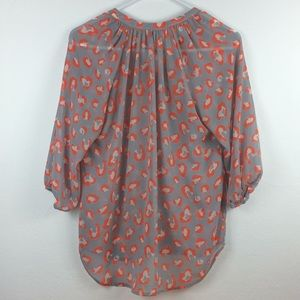 buttons Tops - Buttons Francesca's gray/orange animal print top-S